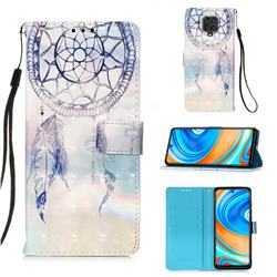 Fantasy Campanula 3D Painted Leather Wallet Case for Xiaomi Redmi Note 9s / Note9 Pro / Note 9 Pro Max