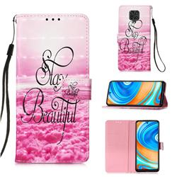 Beautiful 3D Painted Leather Wallet Case for Xiaomi Redmi Note 9s / Note9 Pro / Note 9 Pro Max