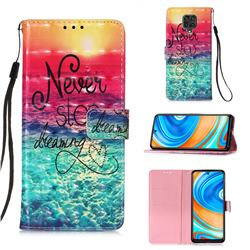 Colorful Dream Catcher 3D Painted Leather Wallet Case for Xiaomi Redmi Note 9s / Note9 Pro / Note 9 Pro Max