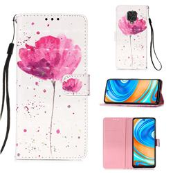 Watercolor 3D Painted Leather Wallet Case for Xiaomi Redmi Note 9s / Note9 Pro / Note 9 Pro Max