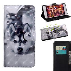 Husky Dog 3D Painted Leather Wallet Case for Xiaomi Redmi Note 9s / Note9 Pro / Note 9 Pro Max