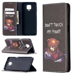 Chainsaw Bear Slim Magnetic Attraction Wallet Flip Cover for Xiaomi Redmi Note 9s / Note9 Pro / Note 9 Pro Max