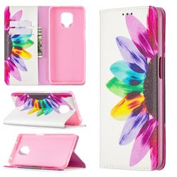 Sun Flower Slim Magnetic Attraction Wallet Flip Cover for Xiaomi Redmi Note 9s / Note9 Pro / Note 9 Pro Max