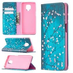 Plum Blossom Slim Magnetic Attraction Wallet Flip Cover for Xiaomi Redmi Note 9s / Note9 Pro / Note 9 Pro Max