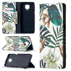 Flower Leaf Slim Magnetic Attraction Wallet Flip Cover for Xiaomi Redmi Note 9s / Note9 Pro / Note 9 Pro Max