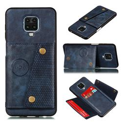 Retro Multifunction Card Slots Stand Leather Coated Phone Back Cover for Xiaomi Redmi Note 9s / Note9 Pro / Note 9 Pro Max - Blue