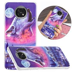 Wolf Howling Noctilucent Soft TPU Back Cover for Xiaomi Redmi Note 9T