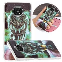 Wolf King Noctilucent Soft TPU Back Cover for Xiaomi Redmi Note 9T