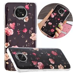 Rose Flower Noctilucent Soft TPU Back Cover for Xiaomi Redmi Note 9T