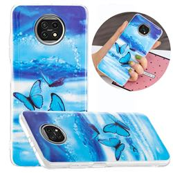Flying Butterflies Noctilucent Soft TPU Back Cover for Xiaomi Redmi Note 9T