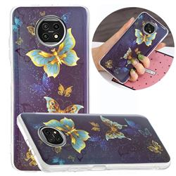 Golden Butterflies Noctilucent Soft TPU Back Cover for Xiaomi Redmi Note 9T