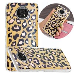 Leopard Galvanized Rose Gold Marble Phone Back Cover for Xiaomi Redmi Note 9T