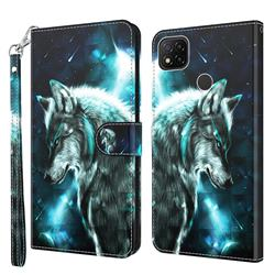 Snow Wolf 3D Painted Leather Wallet Case for Mi Xiaomi Poco C3