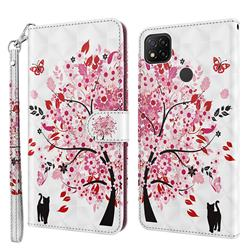 Tree and Cat 3D Painted Leather Wallet Case for Mi Xiaomi Poco C3