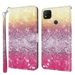 Gradient Rainbow 3D Painted Leather Wallet Case for Mi Xiaomi Poco C3