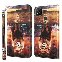 Fantasy Lion 3D Painted Leather Wallet Case for Mi Xiaomi Poco C3