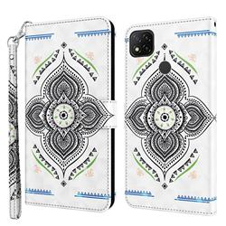 Mandala Totem 3D Painted Leather Wallet Case for Mi Xiaomi Poco C3