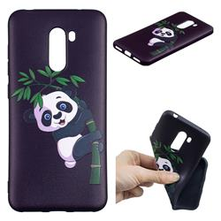 Bamboo Panda 3D Embossed Relief Black Soft Back Cover for Mi Xiaomi Pocophone F1