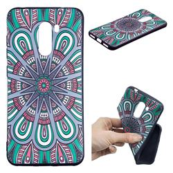 Mandala 3D Embossed Relief Black Soft Back Cover for Mi Xiaomi Pocophone F1