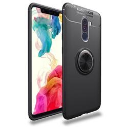 Auto Focus Invisible Ring Holder Soft Phone Case for Mi Xiaomi Pocophone F1 - Black