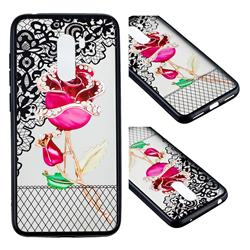 Rose Lace Diamond Flower Soft TPU Back Cover for Mi Xiaomi Pocophone F1
