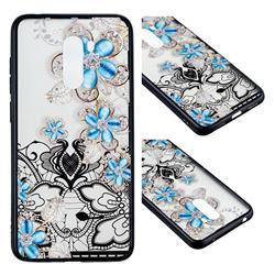 Lilac Lace Diamond Flower Soft TPU Back Cover for Mi Xiaomi Pocophone F1