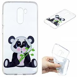 Bamboo Panda Clear Varnish Soft Phone Back Cover for Mi Xiaomi Pocophone F1