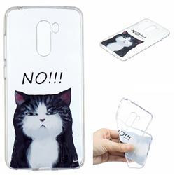 Cat Say No Clear Varnish Soft Phone Back Cover for Mi Xiaomi Pocophone F1