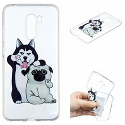 Selfie Dog Clear Varnish Soft Phone Back Cover for Mi Xiaomi Pocophone F1