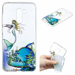 Mermaid Clear Varnish Soft Phone Back Cover for Mi Xiaomi Pocophone F1