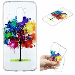 Oil Painting Tree Clear Varnish Soft Phone Back Cover for Mi Xiaomi Pocophone F1