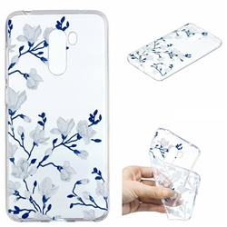 Magnolia Flower Clear Varnish Soft Phone Back Cover for Mi Xiaomi Pocophone F1