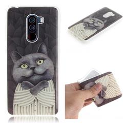 Cat Embrace IMD Soft TPU Cell Phone Back Cover for Mi Xiaomi Pocophone F1