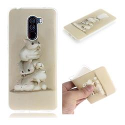 Three Squirrels IMD Soft TPU Cell Phone Back Cover for Mi Xiaomi Pocophone F1