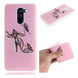 Butterfly High Heels IMD Soft TPU Cell Phone Back Cover for Mi Xiaomi Pocophone F1