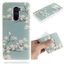 Magnolia Flower IMD Soft TPU Cell Phone Back Cover for Mi Xiaomi Pocophone F1
