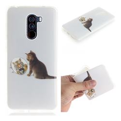 Cat and Tiger IMD Soft TPU Cell Phone Back Cover for Mi Xiaomi Pocophone F1
