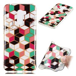Three-dimensional Square Soft TPU Marble Pattern Phone Case for Mi Xiaomi Pocophone F1
