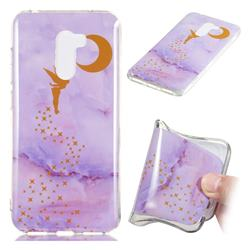 Elf Purple Soft TPU Marble Pattern Phone Case for Mi Xiaomi Pocophone F1