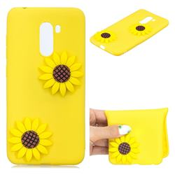 Yellow Sunflower Soft 3D Silicone Case for Mi Xiaomi Pocophone F1