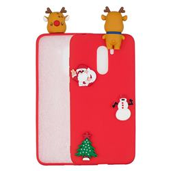 Red Elk Christmas Xmax Soft 3D Silicone Case for Mi Xiaomi Pocophone F1