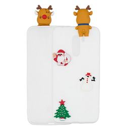 White Elk Christmas Xmax Soft 3D Silicone Case for Mi Xiaomi Pocophone F1
