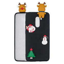 Black Elk Christmas Xmax Soft 3D Silicone Case for Mi Xiaomi Pocophone F1