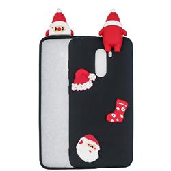 Black Santa Claus Christmas Xmax Soft 3D Silicone Case for Mi Xiaomi Pocophone F1