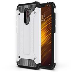 King Kong Armor Premium Shockproof Dual Layer Rugged Hard Cover for Mi Xiaomi Pocophone F1 - White