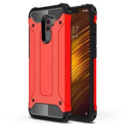King Kong Armor Premium Shockproof Dual Layer Rugged Hard Cover for Mi Xiaomi Pocophone F1 - Big Red
