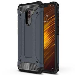 King Kong Armor Premium Shockproof Dual Layer Rugged Hard Cover for Mi Xiaomi Pocophone F1 - Navy