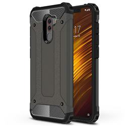 King Kong Armor Premium Shockproof Dual Layer Rugged Hard Cover for Mi Xiaomi Pocophone F1 - Bronze