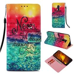 Colorful Dream Catcher 3D Painted Leather Wallet Case for Mi Xiaomi Pocophone F1