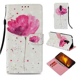 Watercolor 3D Painted Leather Wallet Case for Mi Xiaomi Pocophone F1